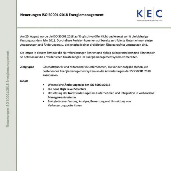 Neuerungen ISO 50001:2018 Energiemanagement