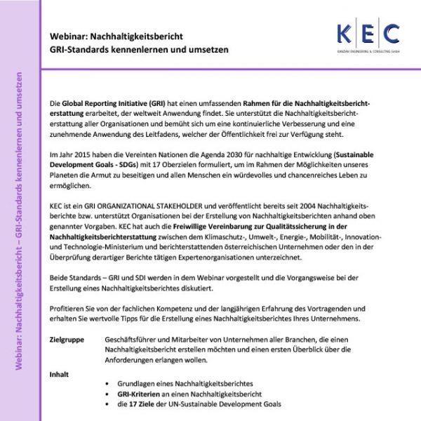 Webinar: Nachhaltigkeitsbericht – GRI-Standards kennenlernen und umsetzen